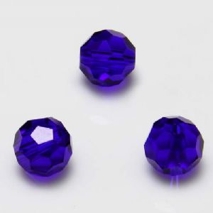 Beads, Selenial Crystal, Crystal, Dark blue , Faceted Rounds, Diameter 8mm, 10 Beads, [ZZC127]